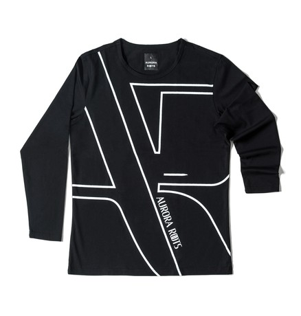 T-SHIRT DOHA LONG SLEEVE MAN BLACK no. L