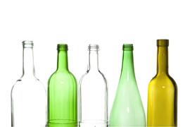 Households, bottles and glass