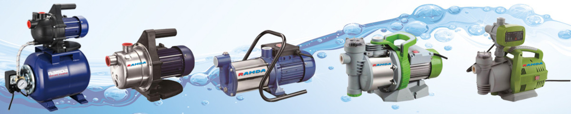Submersible and flow water pumps, automatic pressure systems